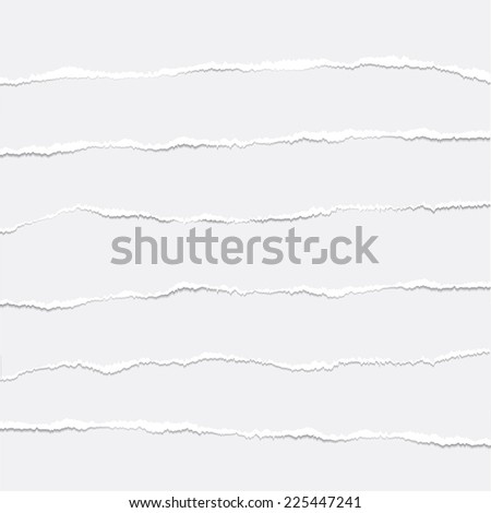 Couple pieces of torn papers. Vector illustration. - stock vector
