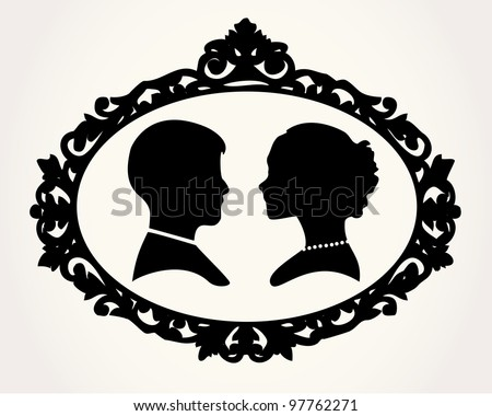 Couple Silhouette - stock vector