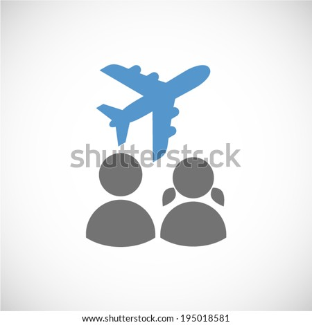 couple vacation - stock vector