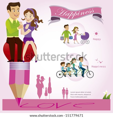 Couples infographics.vector illustration - stock vector