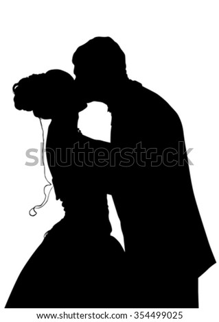 Couples people of wedding on white background - stock vector
