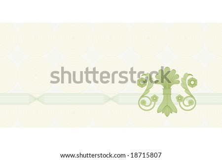 Coupon Certificate Template Complex Guilloche Elements Stock Photo