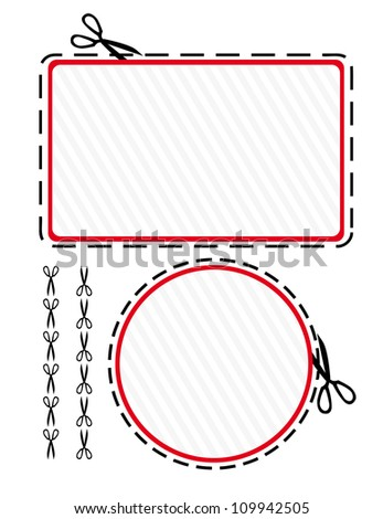 Coupon cut-out - stock vector
