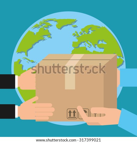 courier service worldwide design, vector illustration eps10 graphic
