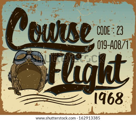 Course Flight Print Vector - stock vector