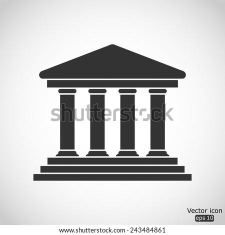 court building vector icon - stock vector