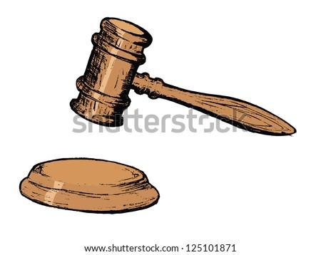 court gavel - stock vector