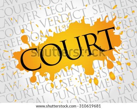 Court word cloud concept - stock vector