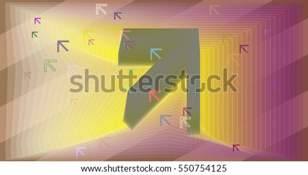 cover among several print, attractive poster over arrows vector background