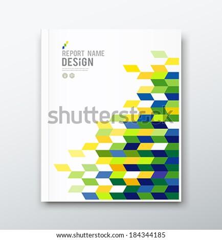 Cover annual report flag of brazil geometric design background, vector illustration - stock vector