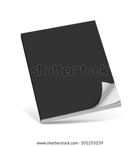 Cover black book with blank. vector illustration - stock vector