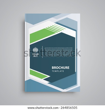 cover book brochure design template abstract geometric - stock vector