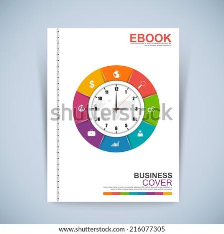 Cover Book Digital Design Minimal Style Template - stock vector