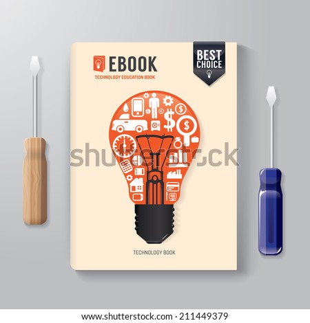Cover Book Digital Design Template Technology Concept/ can be used for E-Book Cover/ E-Magazine Cover/ vector illustration - stock vector