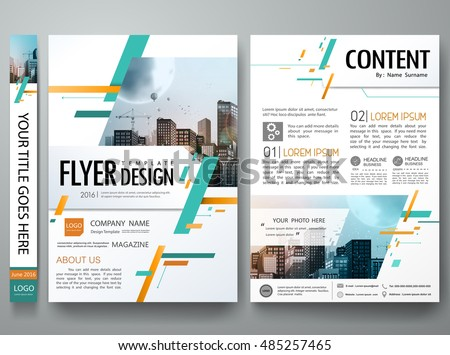 Cover book portfolio presentation brochure design template vector.City design on A4 brochure.Green abstract square poster portfolio layout design.Business flyers report magazine poster layout template