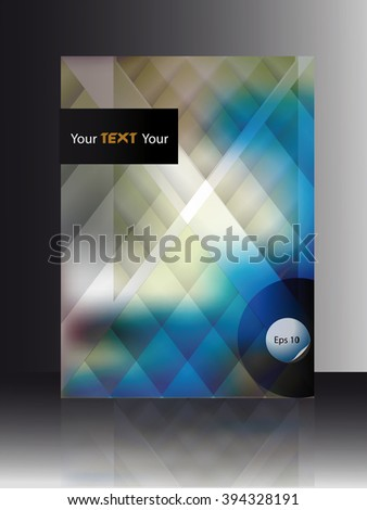 cover booklet blue abstract geometrical background