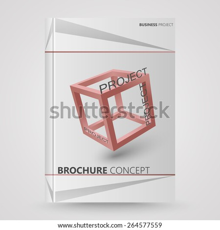 Cover brochure design, abstract as a project concept - stock vector
