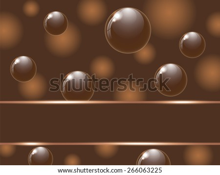 Cover chocolate sweets box illustration. Vector background. - stock vector