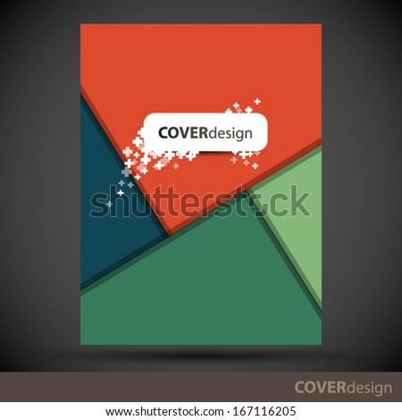 Cover design - stock vector