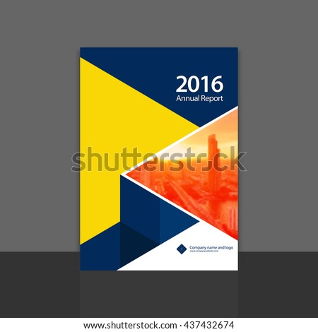 Cover Design Annual Report Layout Cover Stock Vector - Annual report design templates 2016