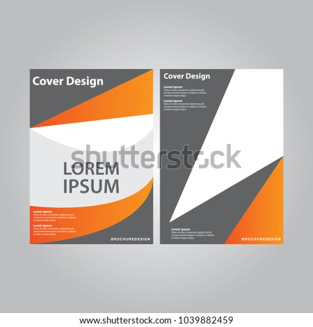 Cover design annual report, vector flyer template design for business brochure