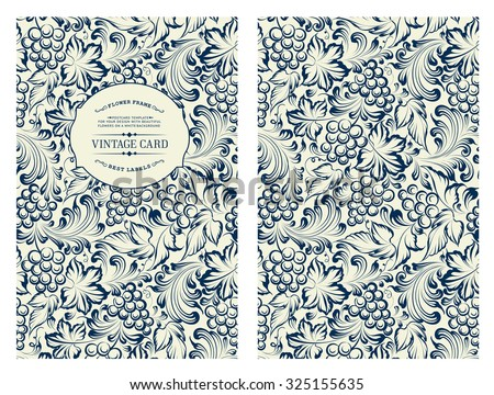 Cover design for you personal cover. Vine pattern. Vine theme for book cover. Wine texture illustration in style of engraving. Vector illustration.  - stock vector