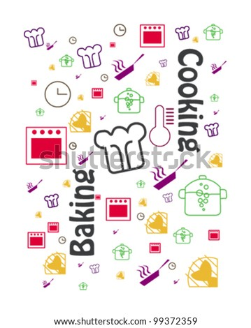 cover design of cooking book - stock vector