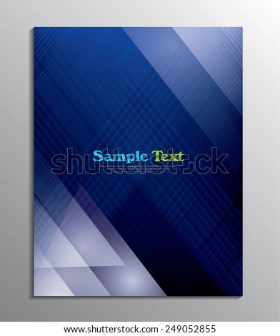 cover design or flyer design - stock vector
