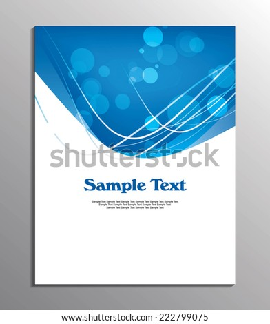 cover design or flyer design / Professional business flyer template or corporate banner design, can be use for publishing, print and presentation. EPS 10. - stock vector