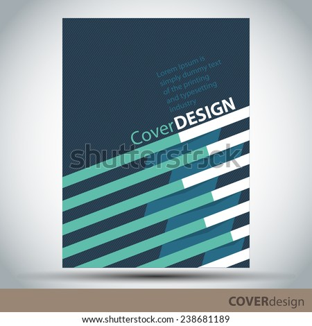 Cover design template - stock vector