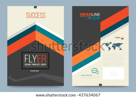 Cover Design Template Success Style Annual Stock Vector - Business plan title page template