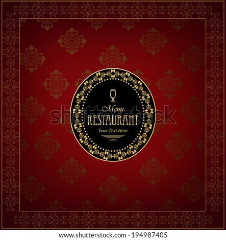Cover design the menu and beverages. - stock vector