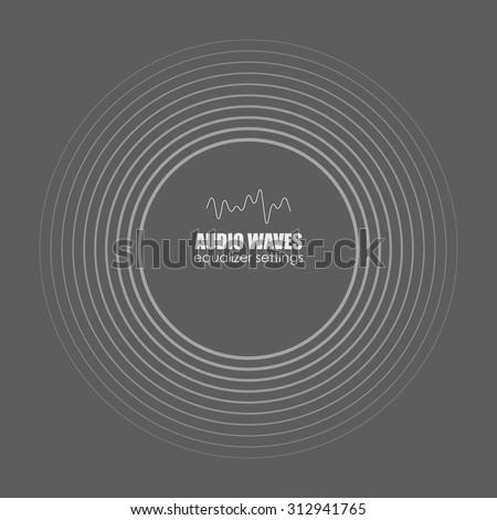 Cover for the album or music track. Sound waves . Audio equalizer technology, pulse musical. Vector illustration charts, graphs, analysis. - stock vector
