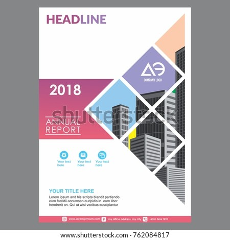 Cover Layout Leaflet Template Annual Report Stock Photo (Photo ...