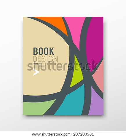 Cover Magazine Abstract colorful curve design background, vector illustration - stock vector