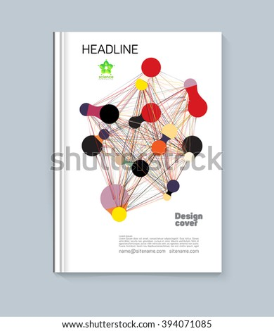 Cover of circles. Abstract colorful cover of the graphic objects. Cover for the presentation of the book, pamphlet, report. - stock vector