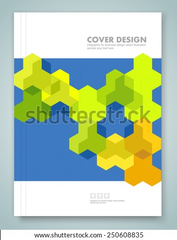 Cover report and brochure colorful geometric design background, vector illustration  - stock vector