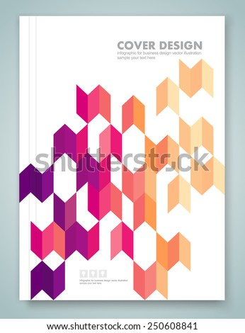 Cover report and brochure colorful geometric design background, vector illustration