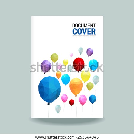 Cover report balloon polygon pattern vector - stock vector