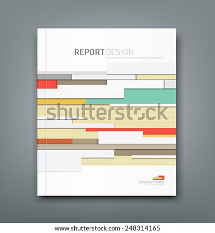 Cover Report wall abstract background design, vector illustration - stock vector