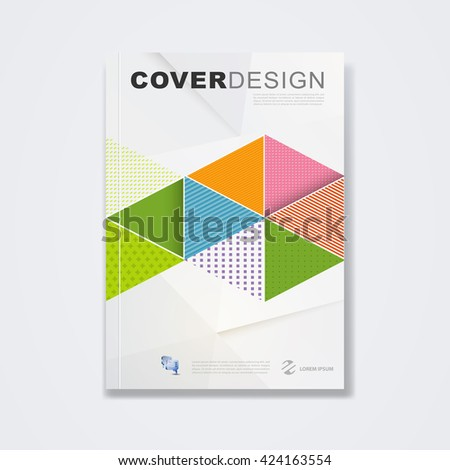 Cover Template, Brochure Layout, Book Cover, Annual Report, Magazine Or  Booklet With  Cover Template