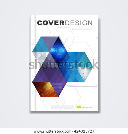 Cover Template Brochure Layout Book Cover Stock Vector 424323727