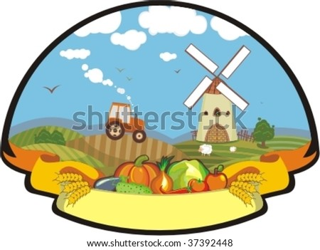 Cover with a rural life and vegetables 2