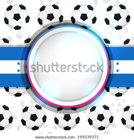 Cover with a soccer ball and the Honduran flag, vector - stock vector