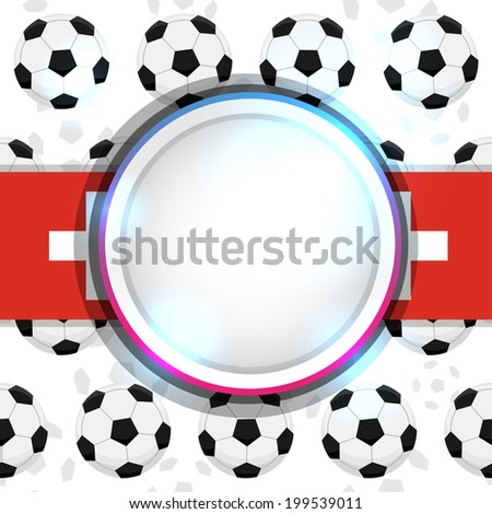 Cover with a soccer ball and the Swiss flag, vector - stock vector