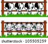 Cow Barn - stock vector