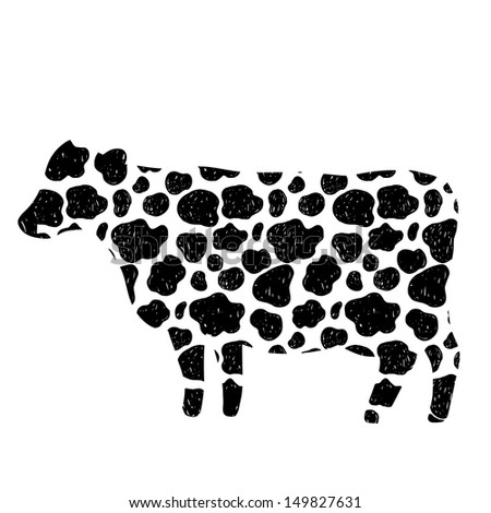 Cow Pattern Cow Figure With Spot Pattern