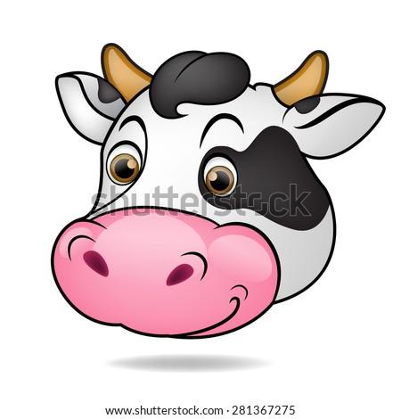 Cow head - stock vector