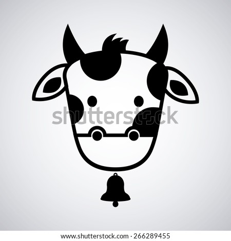 Cute Cow Face Drawing Cow Head Design Vector