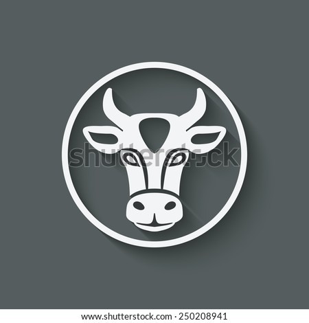 cow head symbol - vector illustration. eps 10 - stock vector